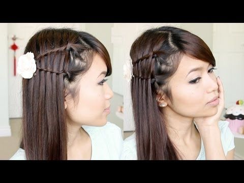 Double Waterfall Hairstyle Giveaway Ended Already Hair Tutorial Thick Hair Styles Medium Hair Styles