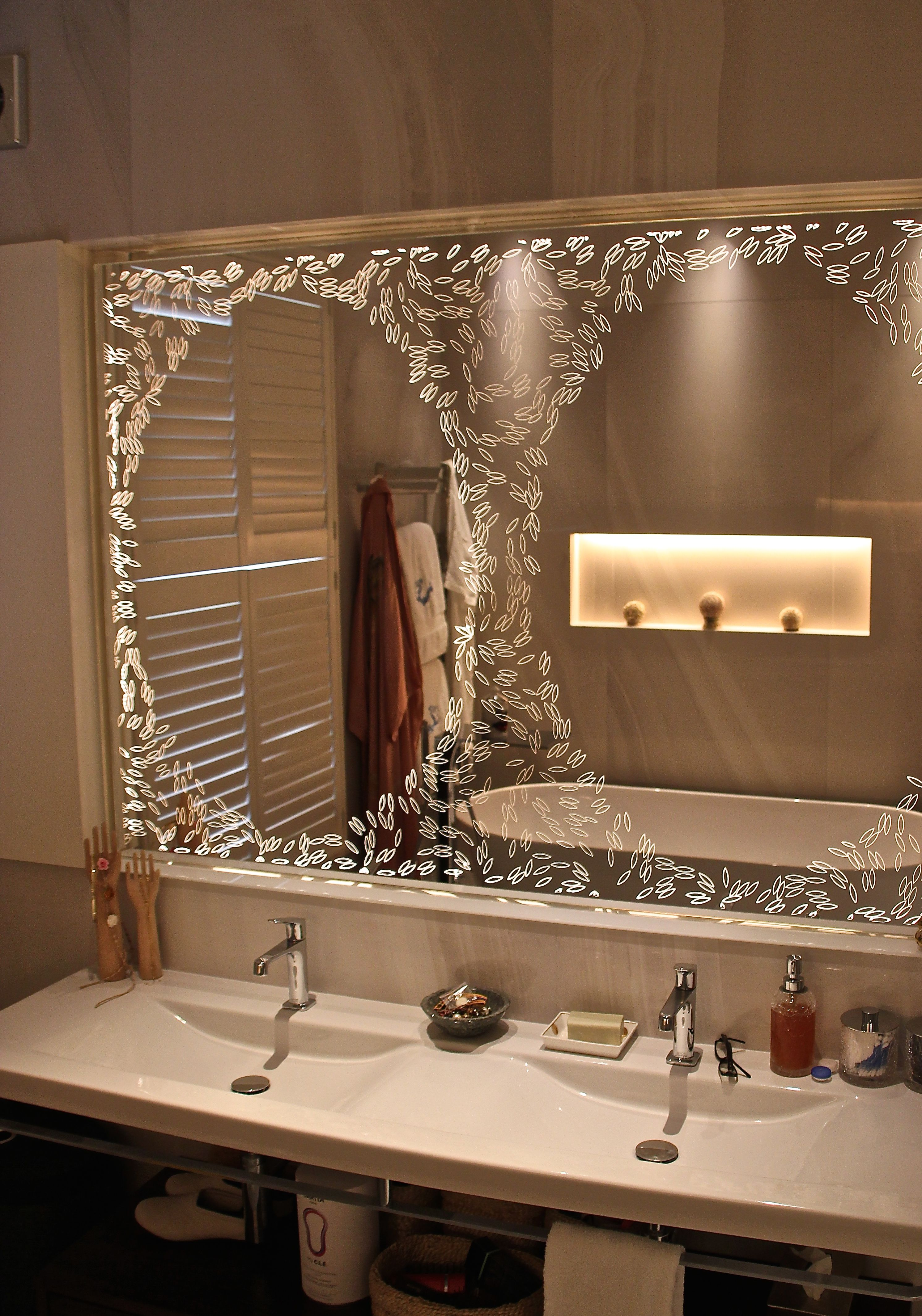 Bespoke Back Lit Mirror Mirror Wall Bathroom Bathroom Mirror Bathroom Mirror Design