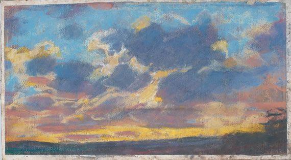 """Claude Monet - """"Nightfall"""", c. 1865-70 Pastel on gray paper 212 x 379 mm Musée des Beaux-Arts de Nantes"""