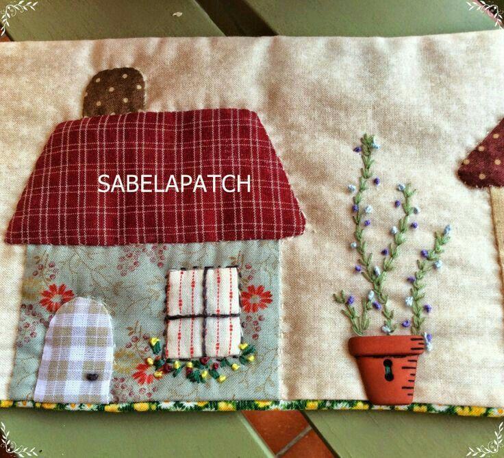 Pin de maria cristina dale costa em patch patchwork - Casas de patchwork ...