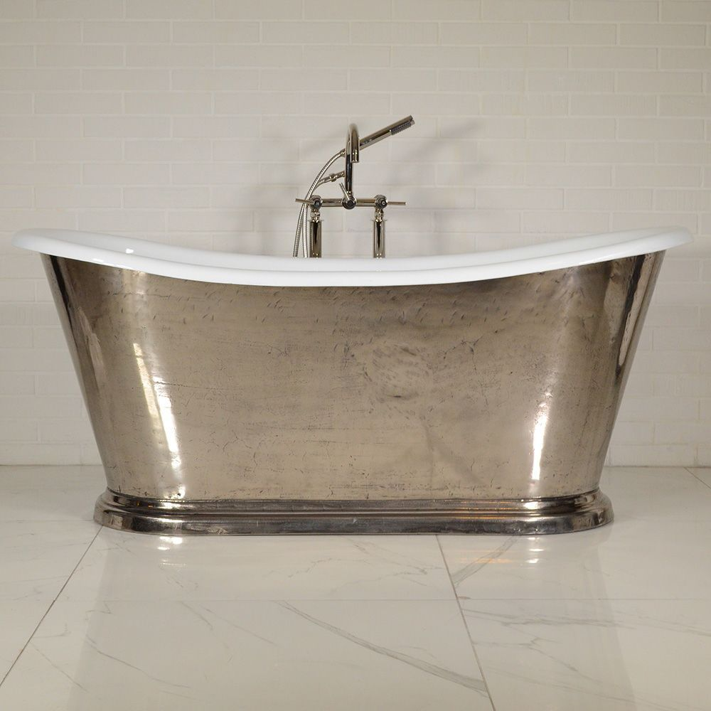 6k The Paris Nickel67 67 Cast Iron French Bateau Tub With