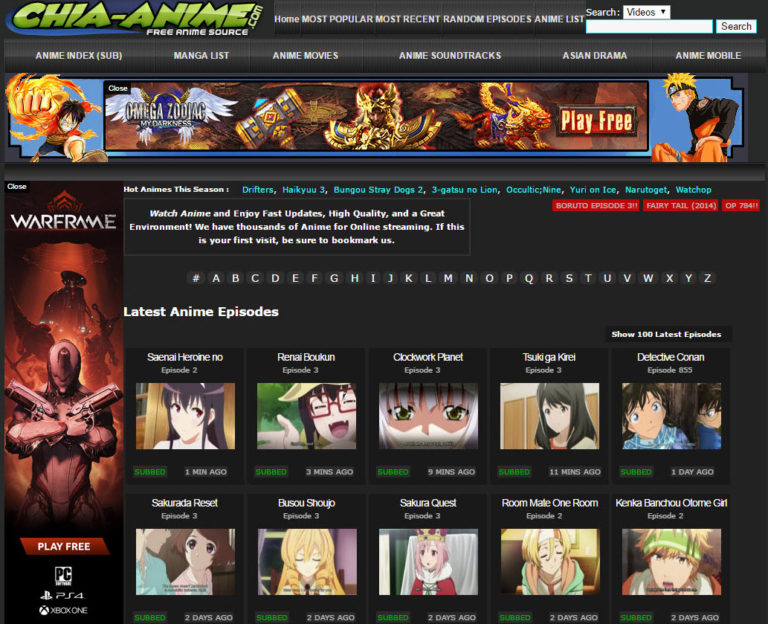 Chia Anime is the best website for watching anime series