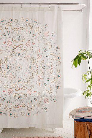 Duschvorhang u201eMillyu201c mit Medaillonmuster DIY Pinterest House