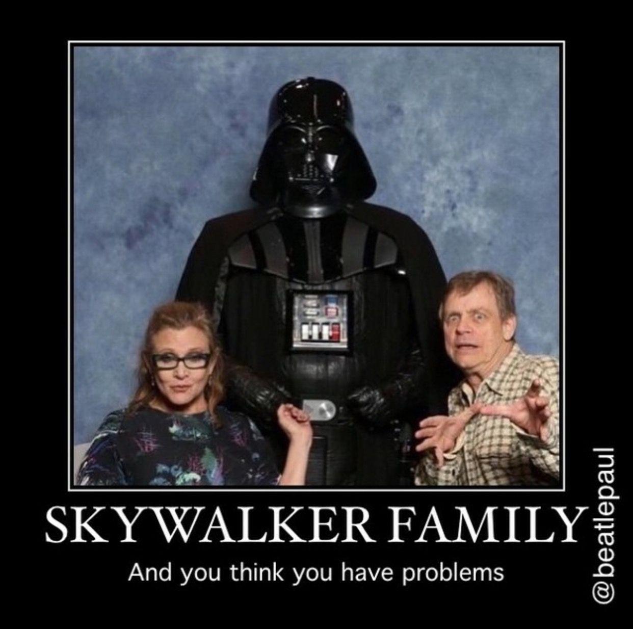 Skywalker Family Star Wars Humor Star Wars Quotes Star Wars Christmas