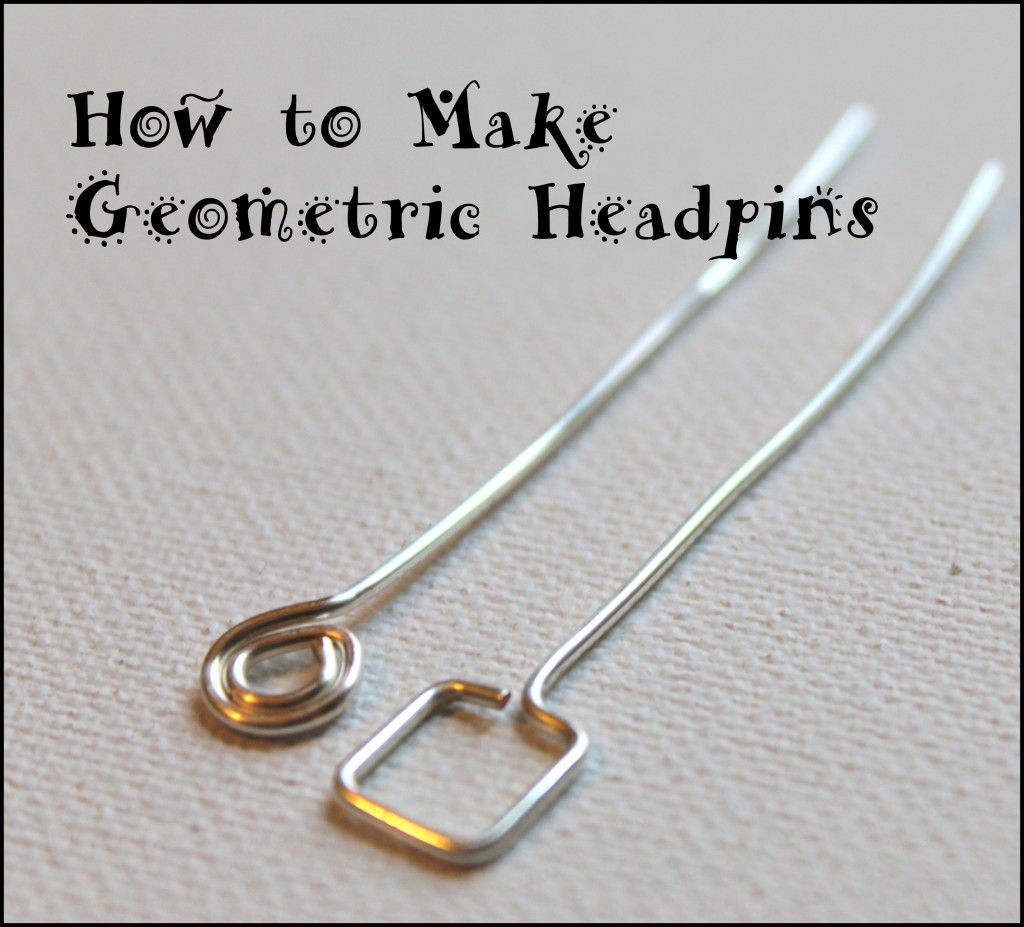 How to Make Geometric Headpins. #Wire #Jewelry #Tutorials | Wire ...