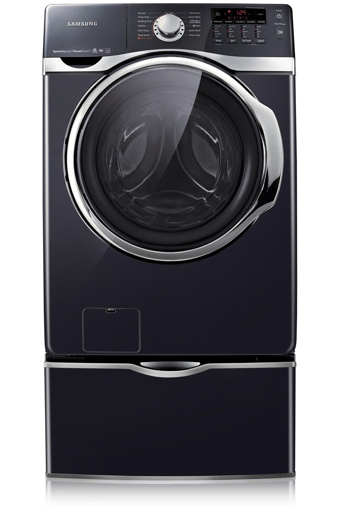 Samsung Wf397utpagr Large Capacity Front Load Steam Washer 4 6 Cu Ft Internal Heater Pure Cycle Technology Vrt Led Display Washers From