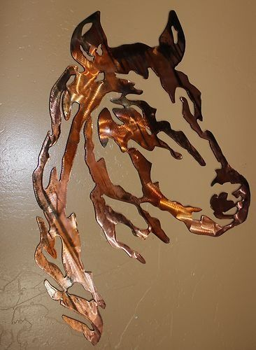Horse Head LG Version Metal Wall Art Western Decor | eBay