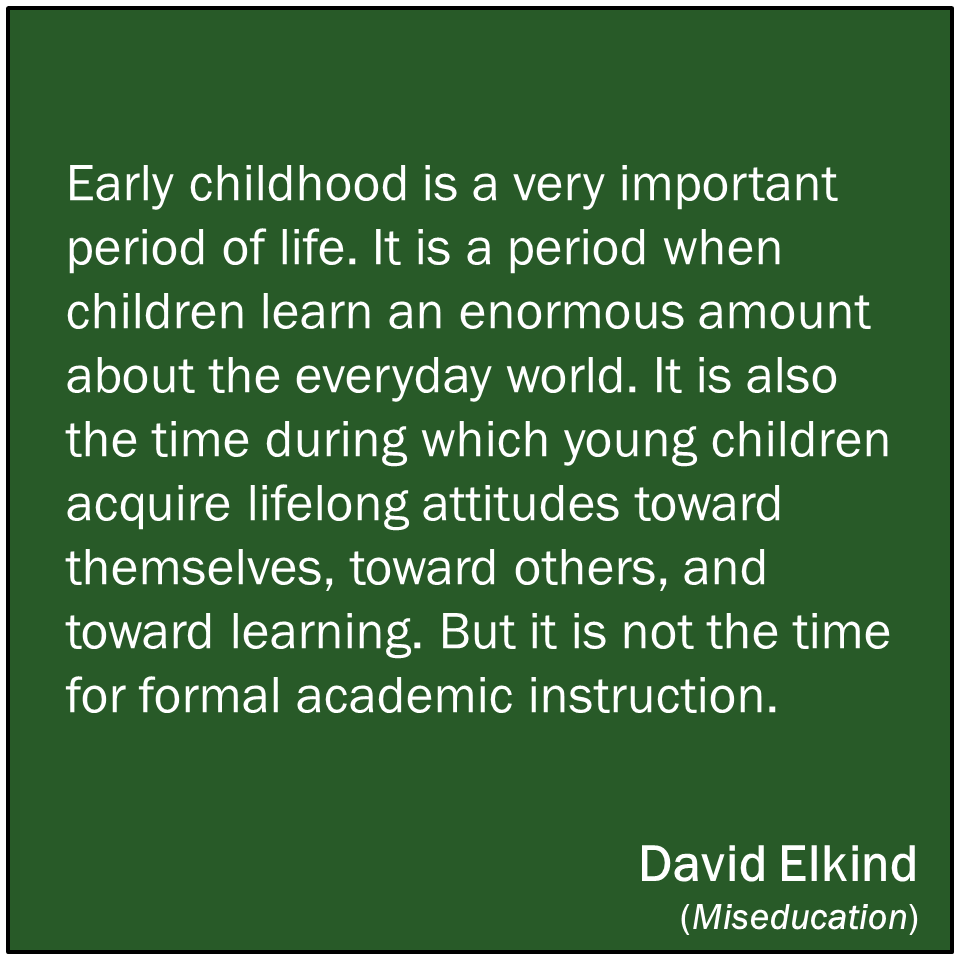 Academic Quotes Early Childhood Is Not The Time For Formal Academic Instruction