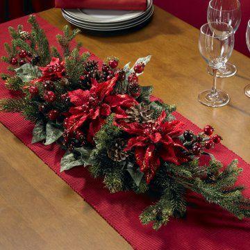 Poinsettia Berry Centerpiece Christmas Table Decorations Christmas Table Centerpieces Christmas Floral Arrangements