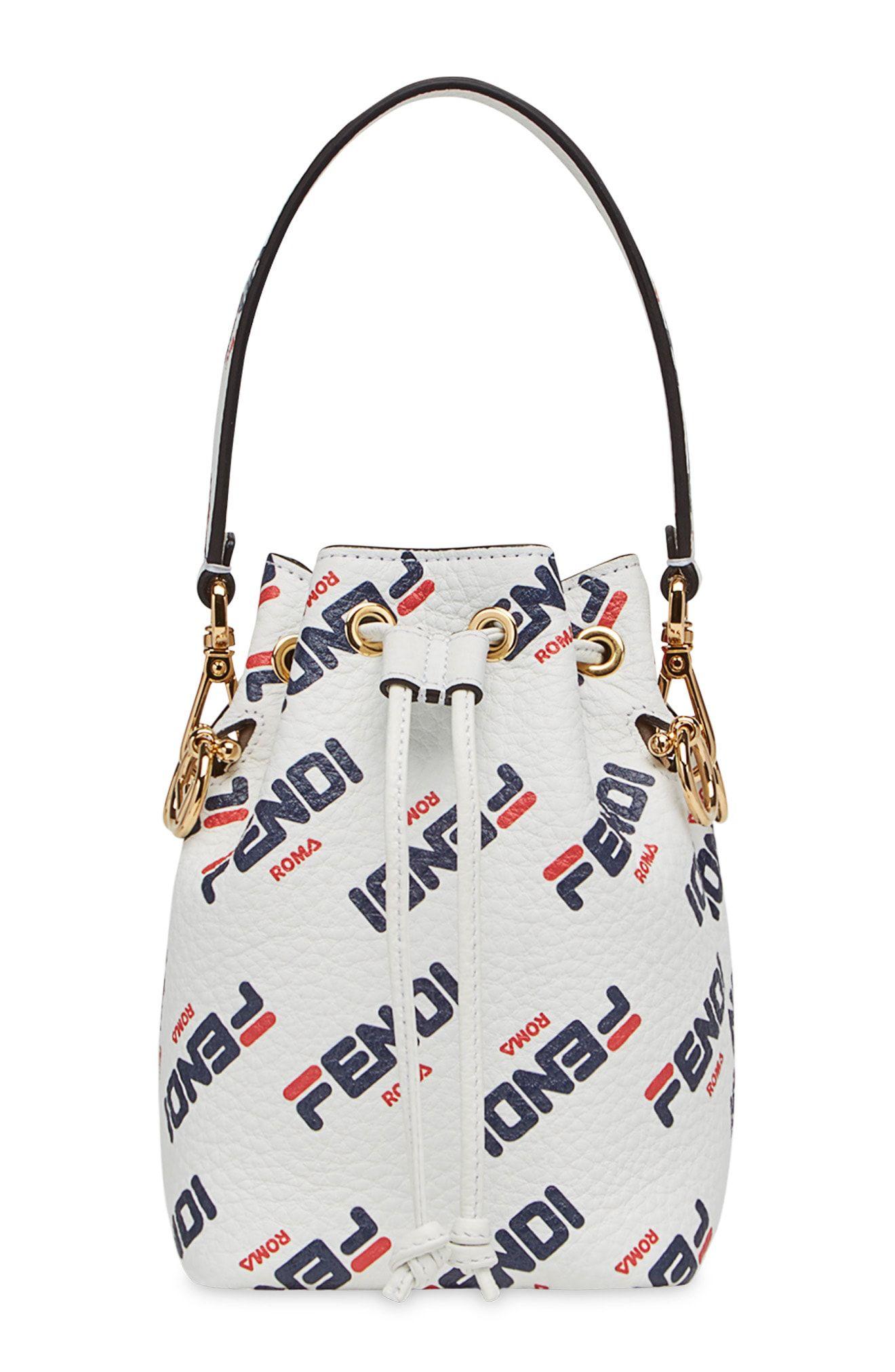 86f2300eb9b9 Fendi x FILA Mon Tresor Mania Logo Bucket Bag available at  Nordstrom