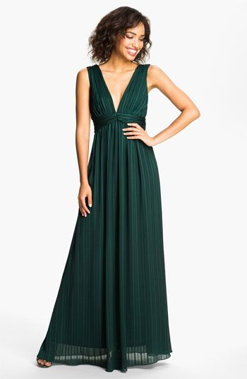 a5c32d72893 Max   Cleo  Jenna  V-Neck Satin   Chiffon Gown available at  Nordstrom