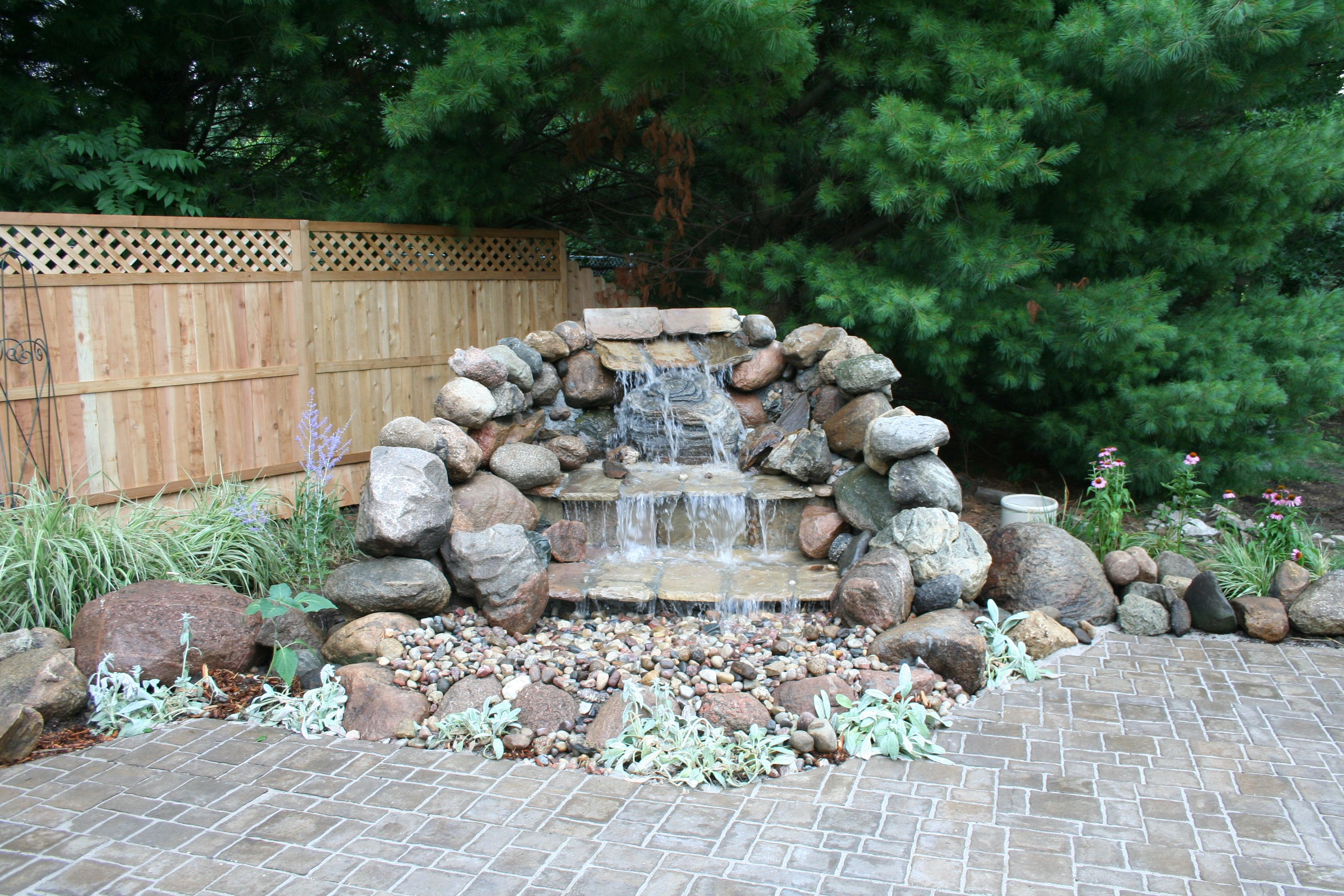 Pondless Waterfall We Used Boulders And Rocks From Our Acreage