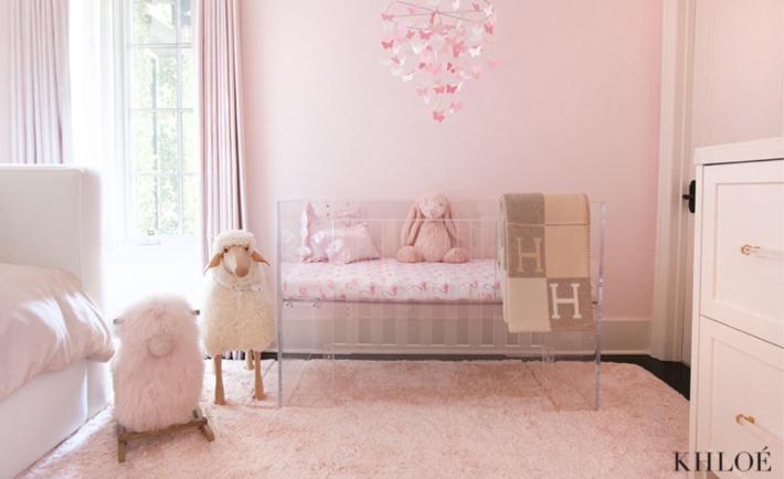 Khloé Kardashian's Nursery—Get the Look Girl room, Home