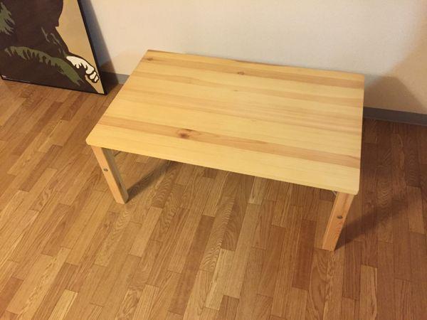 無印良品 折り畳みローテーブル 天然木パイン材中古のため全体的に使用