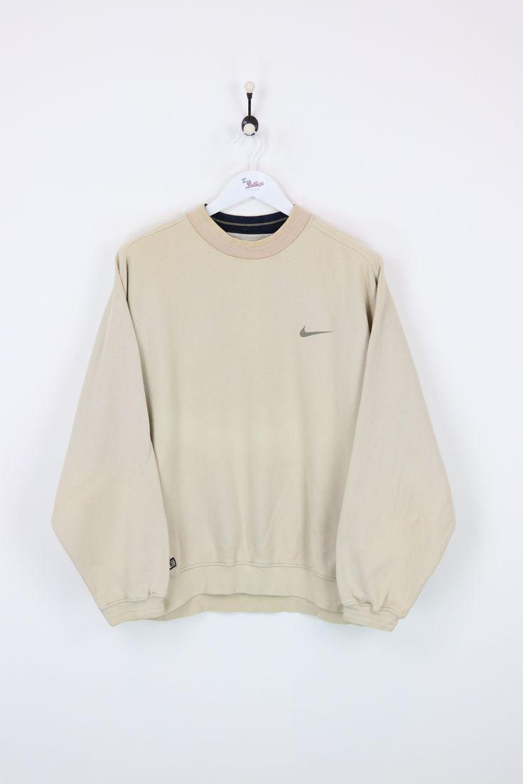 pedazo imagina deslealtad  Nike Sweatshirt Beige Large : Vendor: NikeType: Sweatshirts & HoodsPrice:  30.00 ... - | Vintage nike sweatshirt, Vintage hoodies, Casual outfits