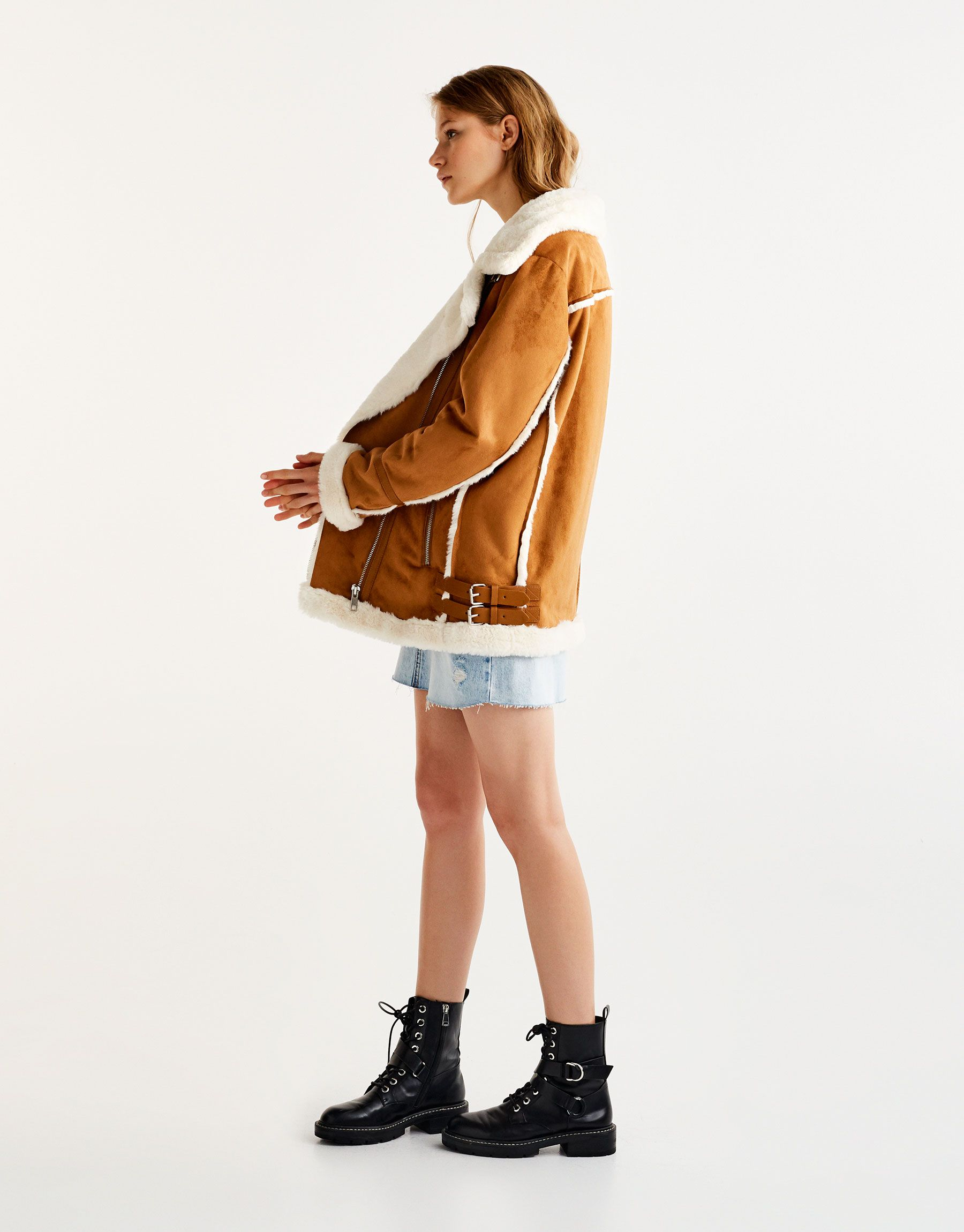 hot new products new selection volume large Pull&Bear - woman - clothing - most wanted - faux suede ...