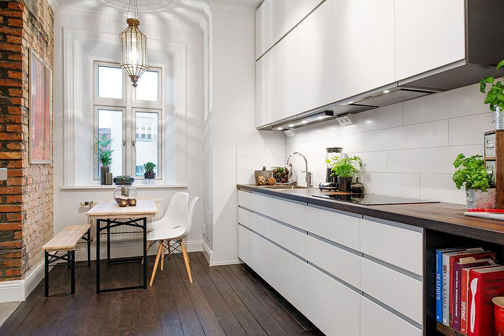 cocina moderna - Ideas para crear un pequeño comedor en la cocina ...