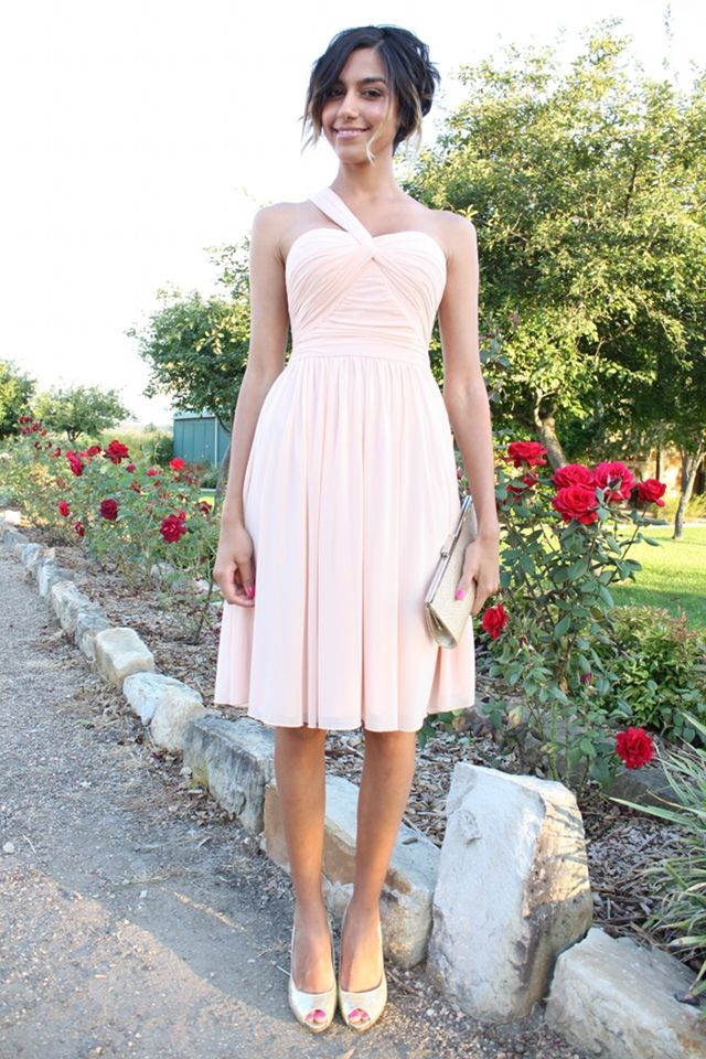 Wedding guest outfit loving what she wore fashion for Light pink dress for wedding guest