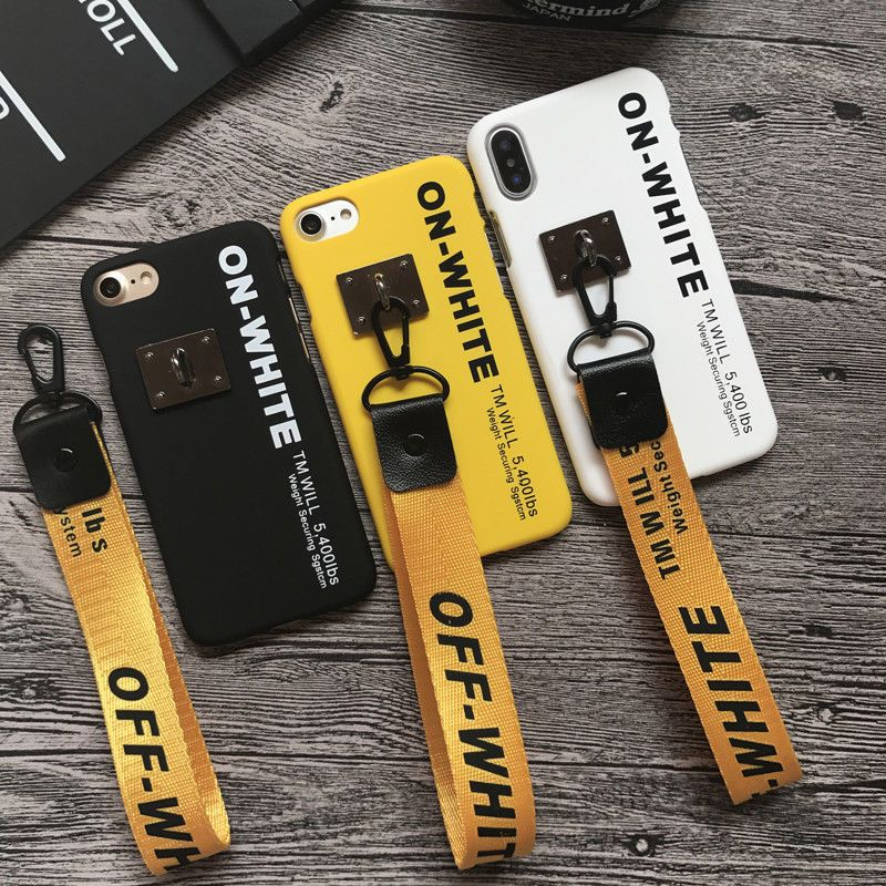check out a889a d3322 $9.99 - Off White Hot Hard Pc Phone Cover Case Lanyard Strap For ...