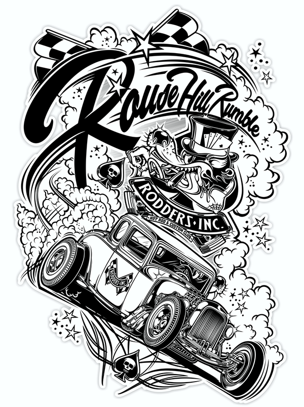 Logo Rodders Inc T Shirt Design Rouse Hill Rumble