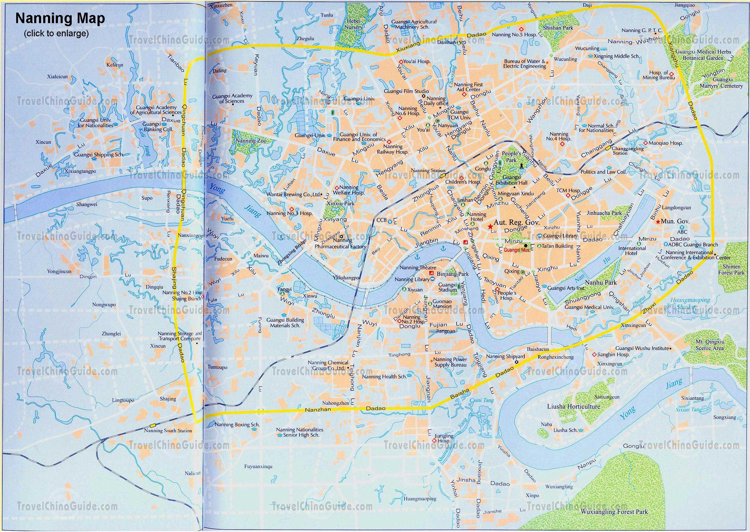 Nanning city map Nanning city map