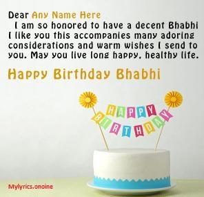 Birthday Wishes To Bhabhi Ji In Hindi English With Images Best Unique Happy Birthday Status Best Birthday Wishes Birthday Wishes Status