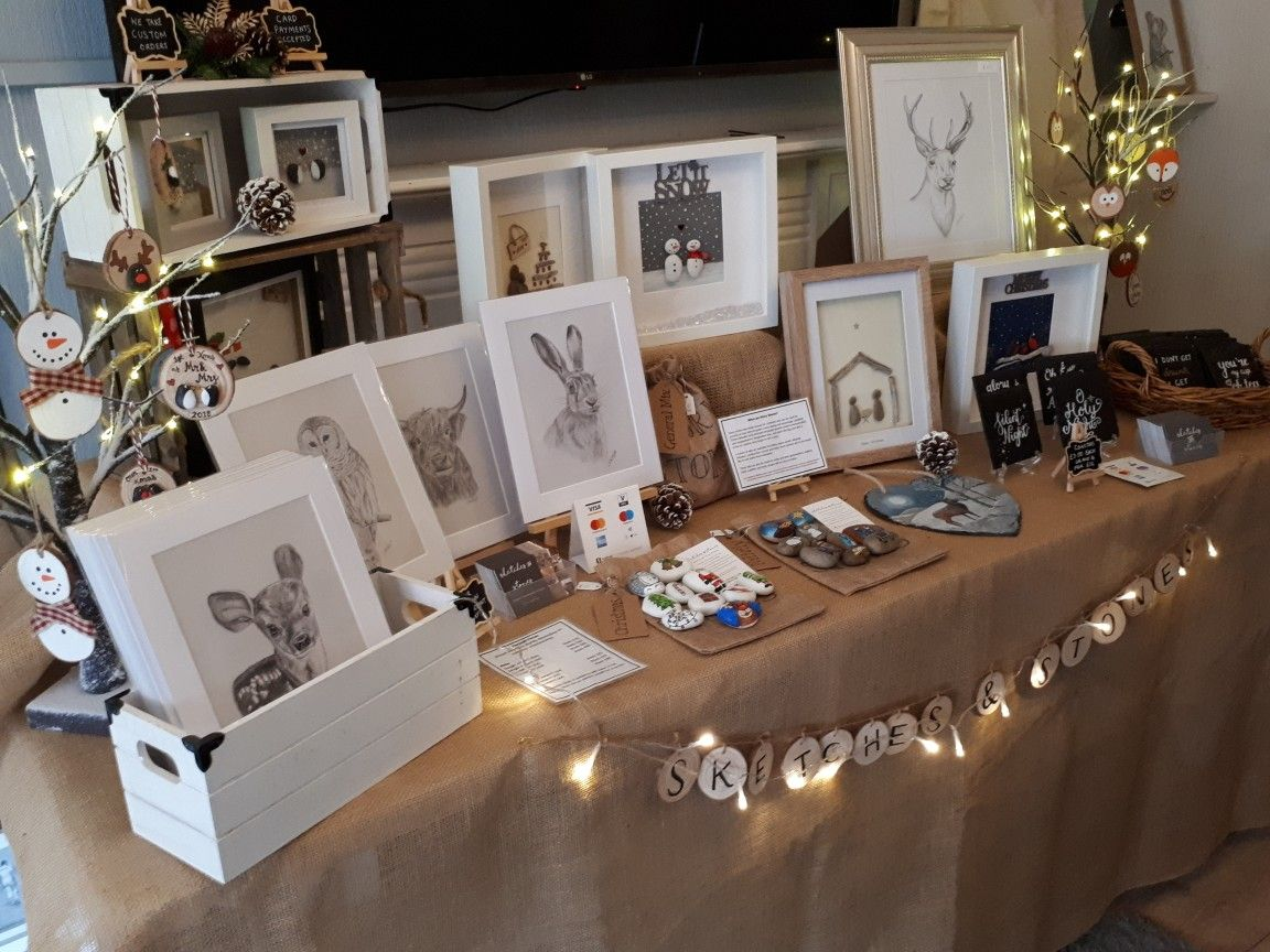 First Christmas craft fair of the season. Craft stall