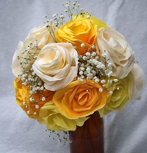 Buque De Rosas De Papel Crepom Com Imagens Rosas De Papel