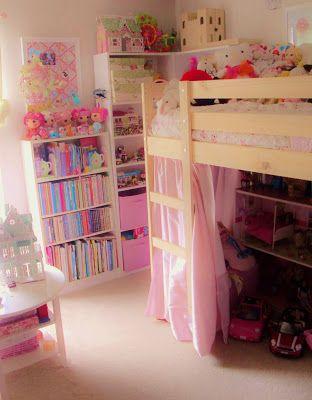 Shabby Chic Ikea Mydal Hack For Under 200 Ikea Loft Bed Girls