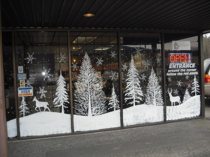 Great Window Painting Tips Glass Painting On Store Windows Can Be A Great Way To Make A Lot O Christmas Window Painting Christmas Window Winter Window Display