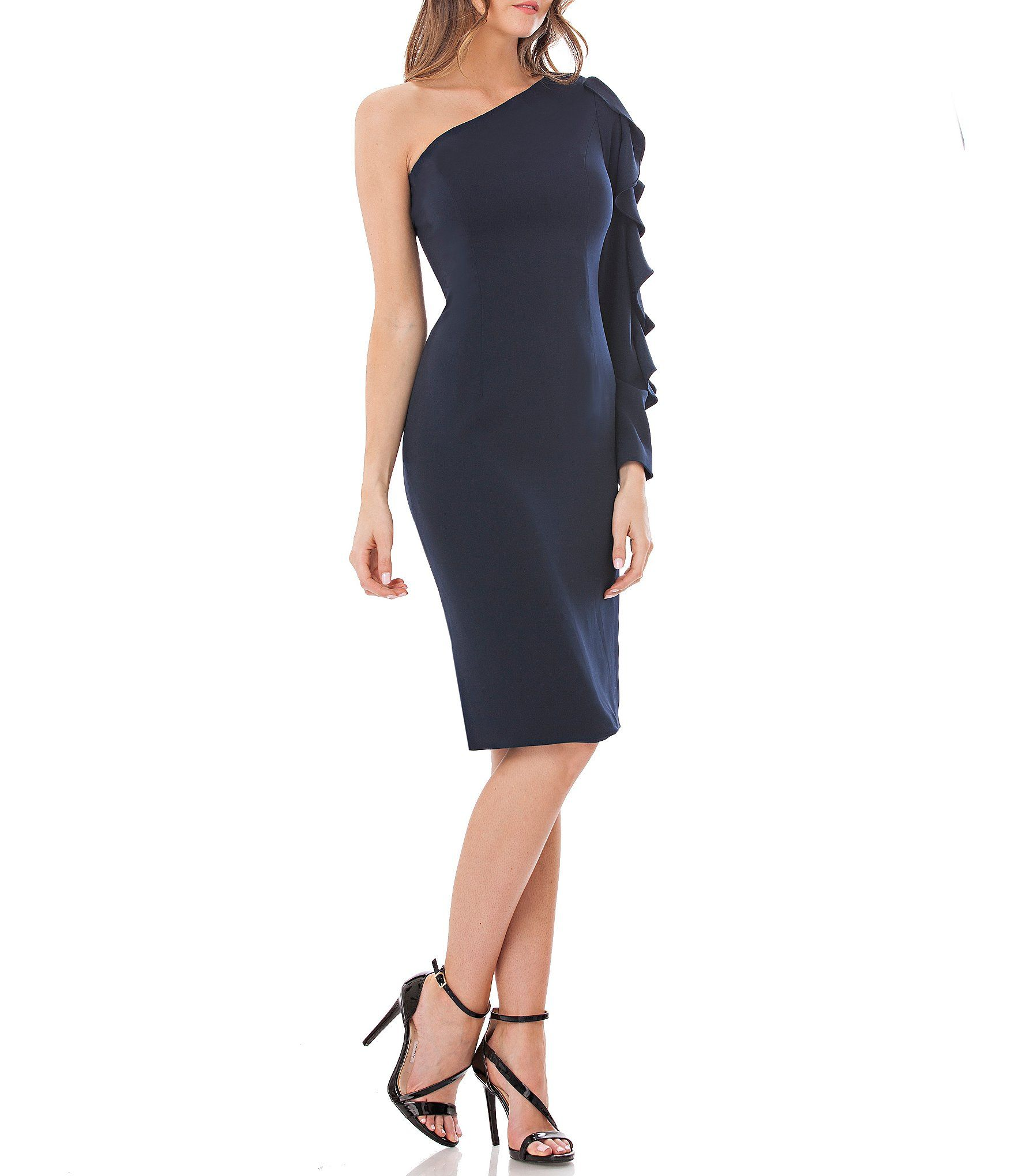 04c7e6551dd Shop for Carmen Marc Valvo Infusion Ruffle Sleeve One-Shoulder Dress at  Dillards.com. Visit Dillards.com to find clothing