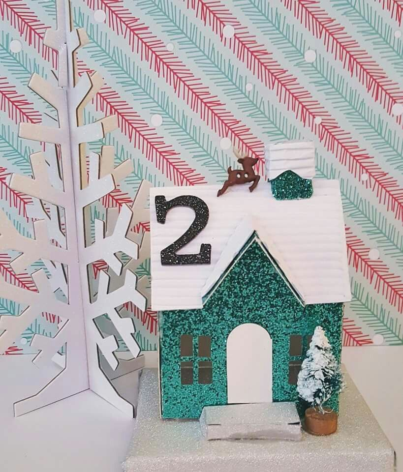 Another house using tim holtz die cut