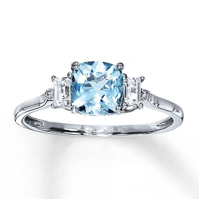 Engagement Rings Wedding Rings Diamonds Charms Jewelry From Kay Jewelers Your Trusted Jewelry Store White Gold Aquamarine Ring Diamond White Gold Rings