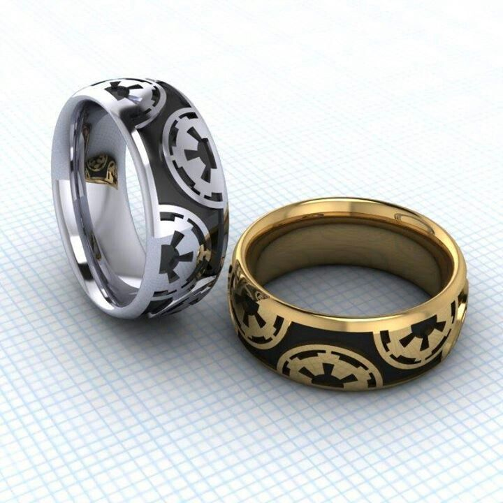Star Wars wedding bands Pattern could be hidden into trim on website