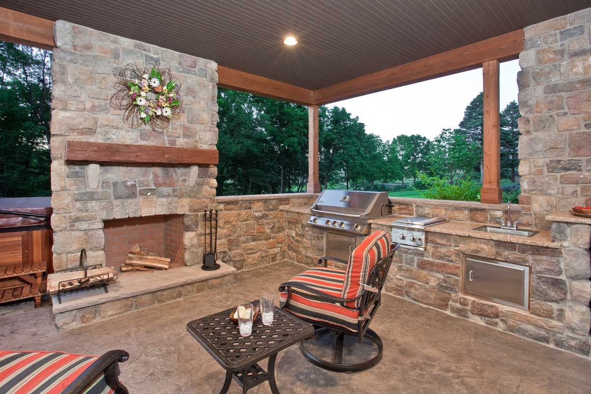 Patio Fireplaces Pictures | Click On An Image Below For A Larger Version.