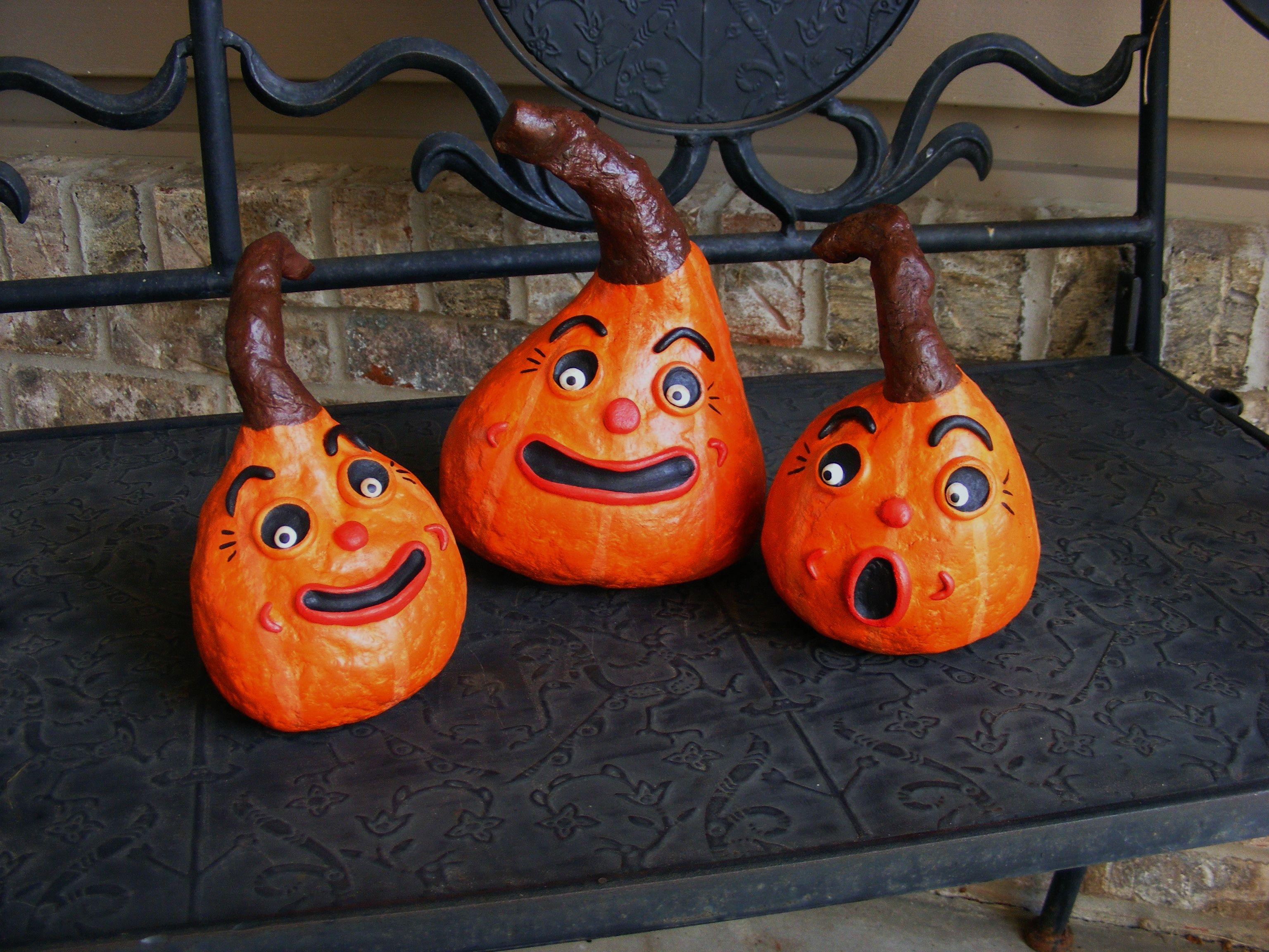 paper mache pumpkins | My Folk Art Creations | Pinterest