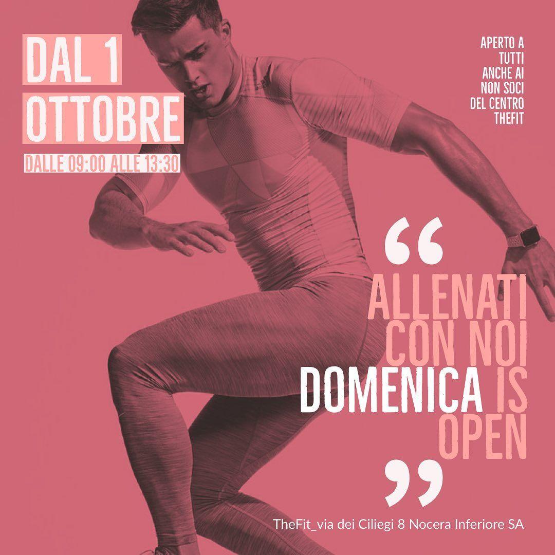 Da OTTOBRE saremo aperti anche di DOMENICA. @thefit___ is new concept of the fitness. #fitness #fitn...
