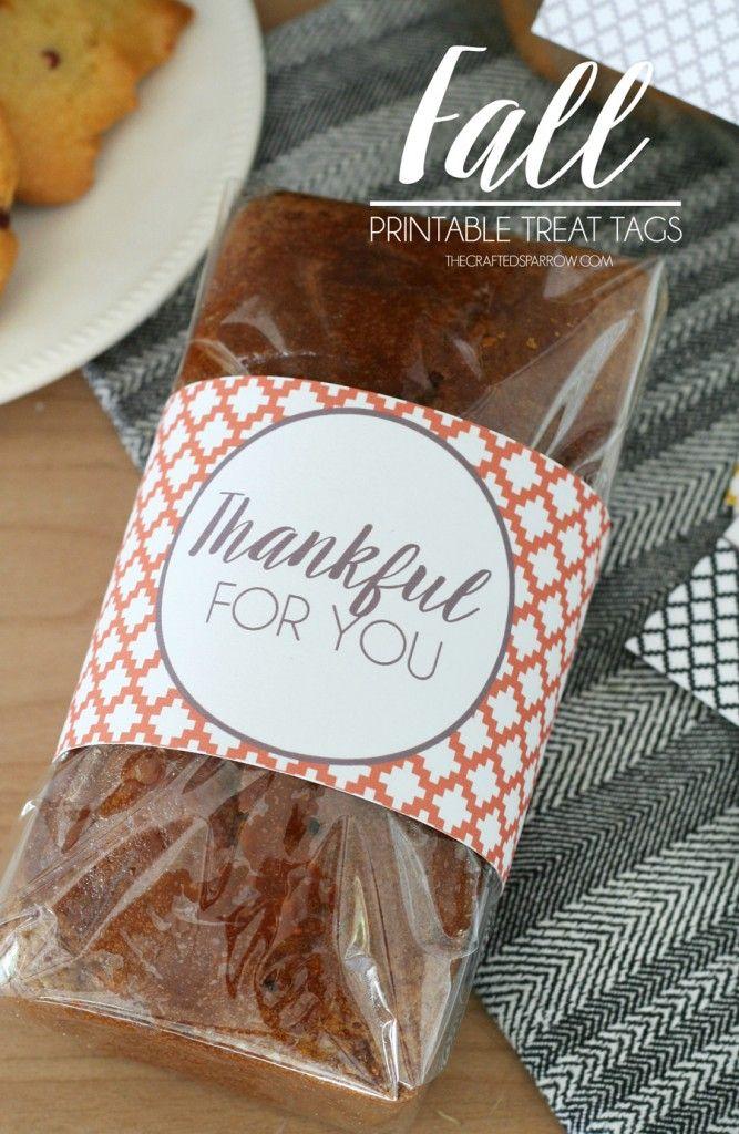 Fall Printable Treat Tags #thanksgivinggiftsforteachers