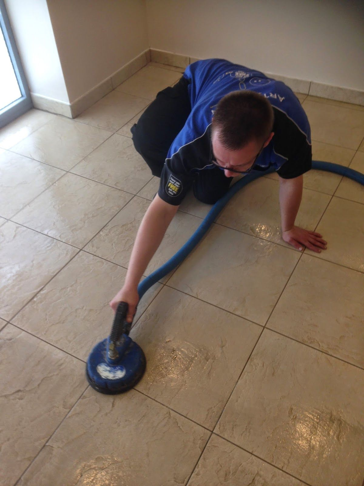 Cleaning A Commercial Ceramic Tile Floor In Cambridge Stone Floor