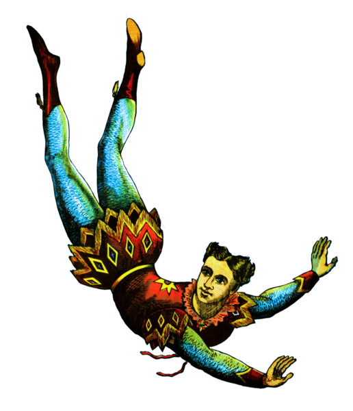 Resto Graphics: Free Clip Art of an Acrobat , from a ...