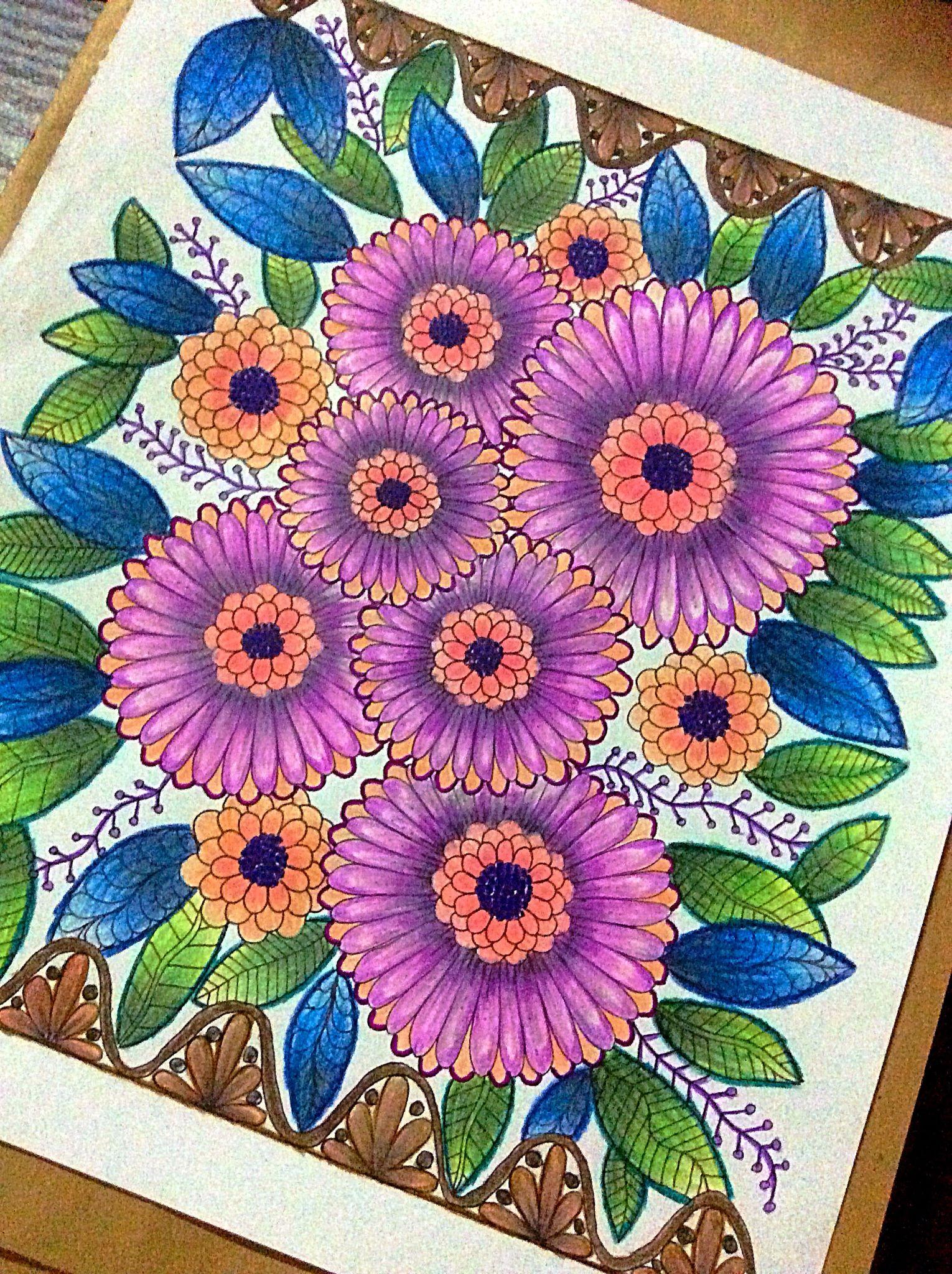 Zendoodle coloring enchanting gardens - Zendoodle Enchanting Gardens Faber Castel Derwent Colousoft Pentel And Stabilo