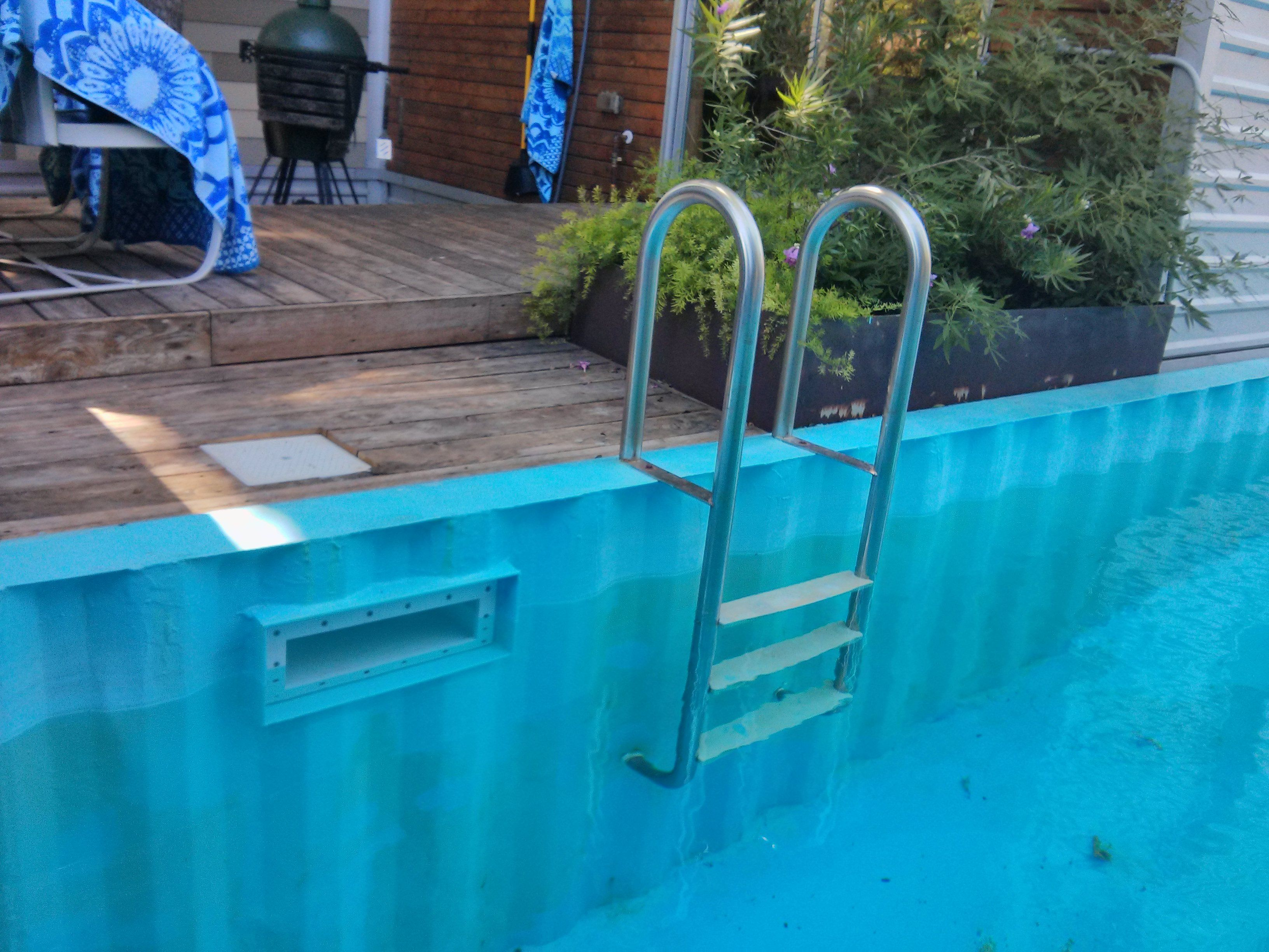 Shipping Container Pool 7 Years Out