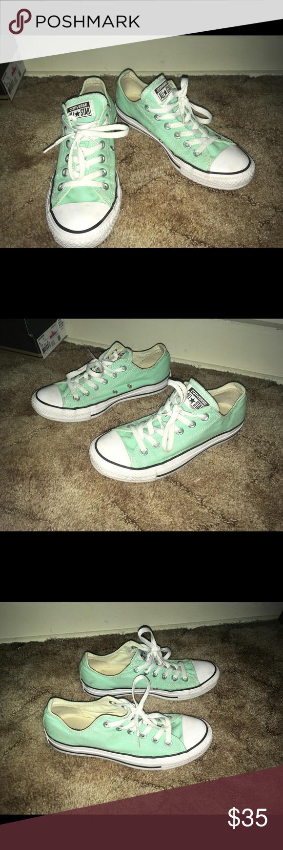 454e44a715c104 Mint Green Converse Mint Green Converse 💚💙 Light wear Size 7 women Mens 5  Willing to negotiate