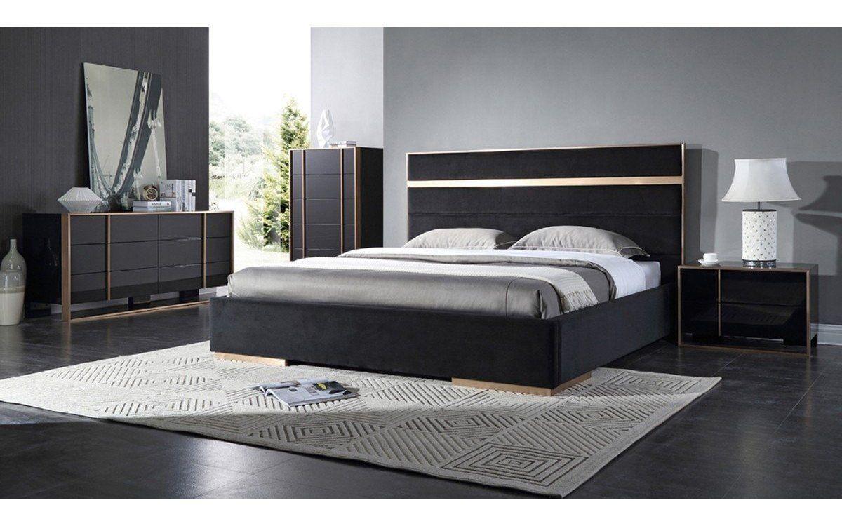 All Black Bedroom Set Cartier Modern Black Brushed Bronze Bedroom Set In 2020 Contemporary Bedroom Contemporary Bedroom Sets Modern King Bedroom Sets