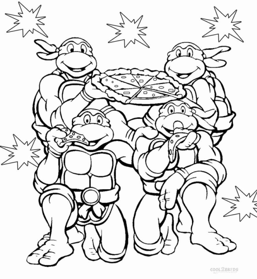 Teenage Mutant Ninja Turtles Coloring Page Awesome Get ...