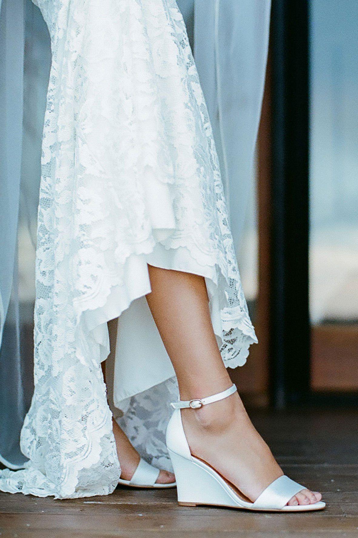 Ivory bridal shoe bridal wedge comfortable wedding shoes