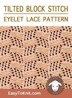 Easy Eyelet Lace Knitting Pattern | Lace knitting patterns ...