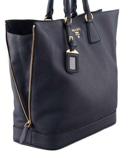 ead44065e6d717 shop v330g prada napa gaufre chain shoulder bag black nero 00fbe 6c600; new  zealand prada cervo snap top tote in baltico 80b5b b09f0