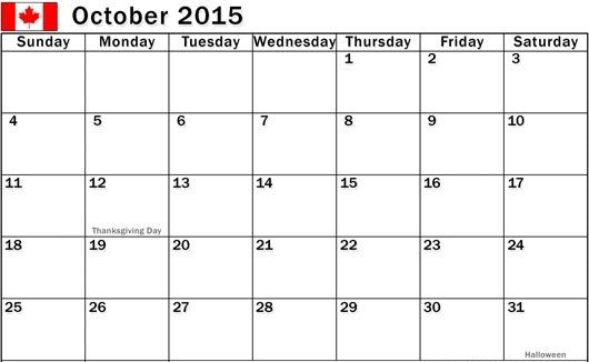 October 2015 Calendar Printable With Holidays Pdf Pictures