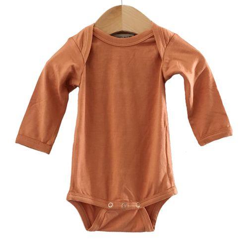 5b0d9f6d2 Long Sleeve Bodysuit, Rust, Kids Outfits, Poppy, Cloths, Kids Fashion,